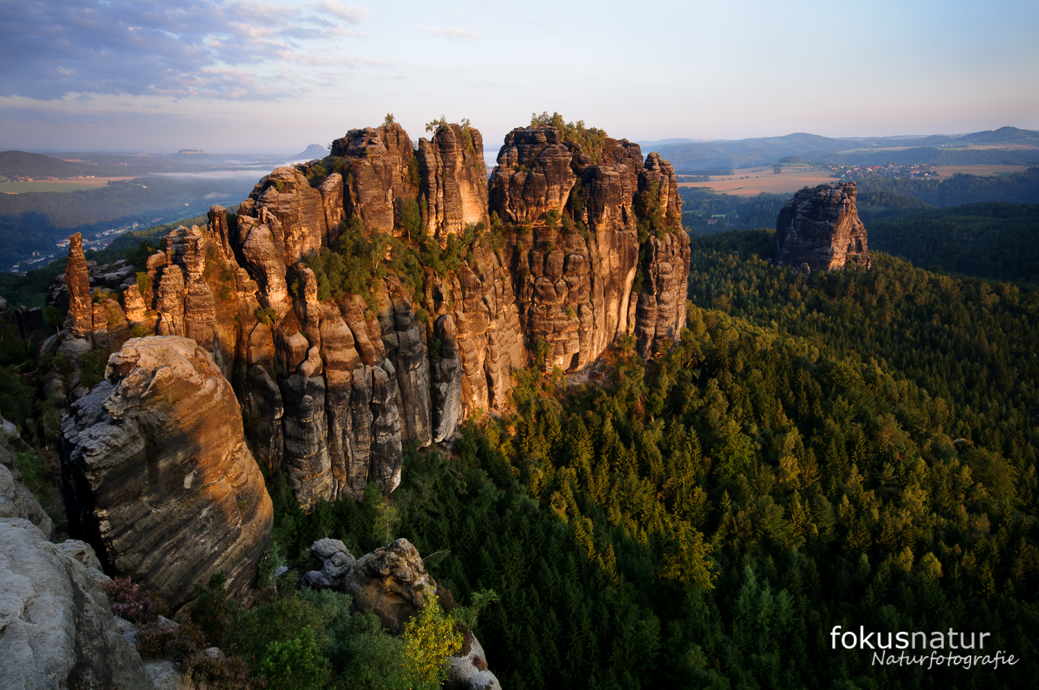 Mountains in the Saxonian Switzerland